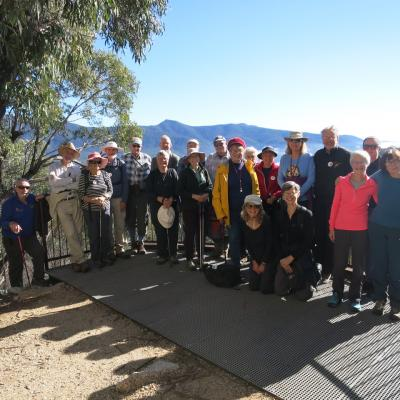 Friday Walkers at Gibraltar Peak lookout 26 May 2018