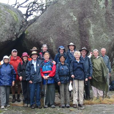 wet Longer Walkers at Ridge of Stone, 4 Feb 2010