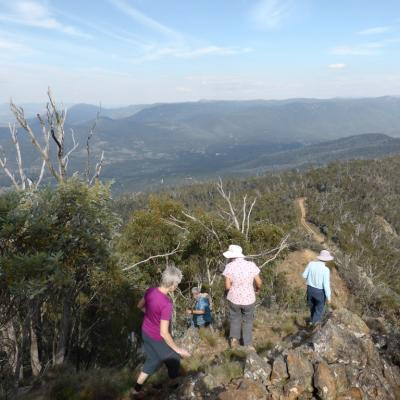down from Camel Hump, Tidbinbilla, 21 April 2016